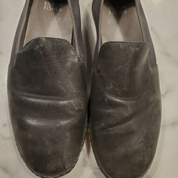 Eileen Fisher Size 7.5 Shoes Gray Leather